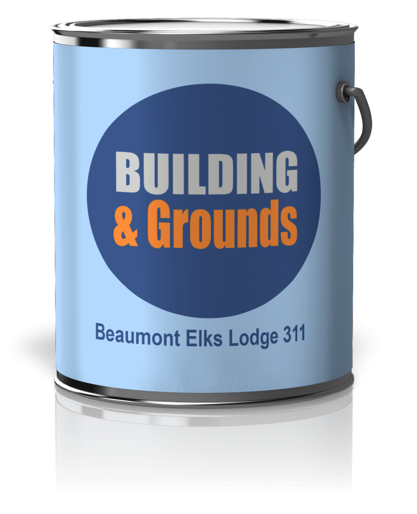 Elks 311 Building and Grounds paint can
